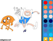 adventure time coloring pages online coloring games funnygames biz