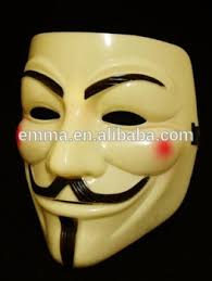 Anonymous Halloween Costume Vendetta Anonymous Mask Guy Fawkes Disobey Size Pvc H153