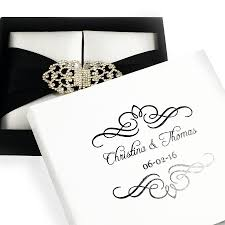 and white wedding invitations perzonalized s and groom s name and wedding date black