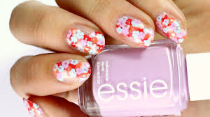 negative space flower nail art easy essie summer 2017 nails
