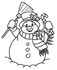 snowman printable coloring pages free christmas coloring pages