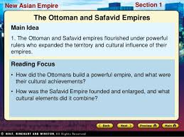 Safavids And Ottomans by World History Ch 17 Section 1 Notes