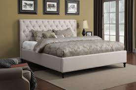 Ultra King Bed Off White Upholstered Bed With Tufted Headboard Beds Coa 300403 5