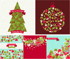 merry christmas vector backgrounds new year card 2014
