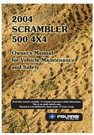 polaris offroad vehicle scrambler 500 4x4 user guide