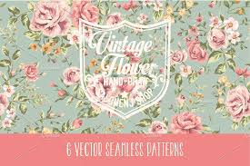 classic wallpaper seamless vintage flower vintage seamless patterns vol 1 patterns creative market