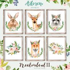 Woodland Animal Nursery Decor by Woodland Nursery Woodland Nursery Decor Boho Nursery
