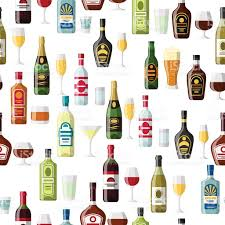 alcoholic drinks bottles alcohol drinks seamless pattern bottles glasses for restaurants