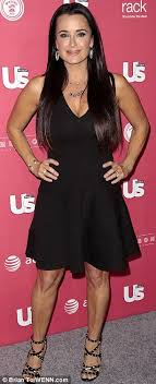 does kyle richards wear hair extensions kyle richards showing off her figure at a party in la 4 18