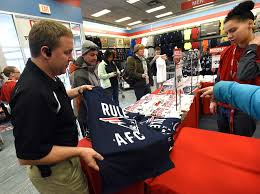 gear rush starts early for retailers as patriots head back to