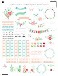 erin condren life planner free printable stickers free printable floral planner stickers for the erin condren life