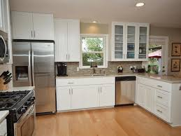 Glass Doors For Kitchen Cabinets - kitchen cabinets with glass doors before painting refinishing oak