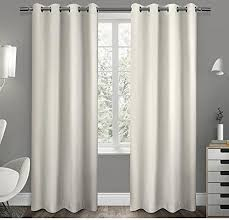 Blackout Curtains 108 Inches 108 Inch Girls Vanilla Solid Color Blackout Curtains Panel Pair