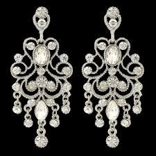 Long Chandelier Earrings Dangle Earrings Chandelier Earrings Vintage Style Dangle Earrings Crystal Bridal