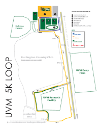 Map Of Vt 5k Loop Map Facilities Campus Recreation University Of Vermont