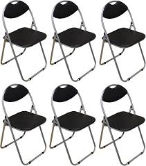 Where To Buy Desk Chairs by 6 X Harbour Housewares Black Padded Folding Desk Guest Chairs