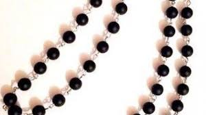 diy rosary make a stylish rosary bead necklace diy style guidecentral