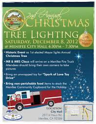 city of menifee christmas tree lighting set for saturday menifee
