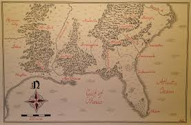 Fantasy Map Fantasy Style Map Of Southeastern United States Finished And