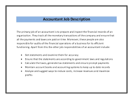 How To Write Job Responsibilities In Resume by 19 Tax Accountant Job Description Resume Example Accounting
