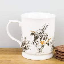 v u0026a alice in wonderland gold tankard fine china mug by creative