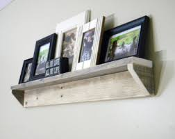 Distressed Wood Bookcase Reclaimed Wood Shelf Etsy