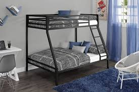 Metal Bunk Bed With Futon Black Metal Base Modern Twin Over Full Bunk Bed Photo On Amazing