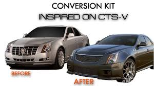 2004 cadillac cts kits cts to cts v front end conversion kit sedan only