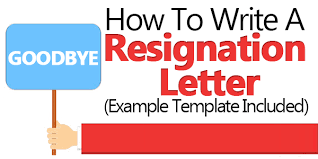 how to write a resignation letter example template included