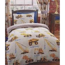 Boys Duvet Covers Twin Amazon Com Kids Club Boys Dumper Trucks Design Quilt Cover