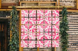 quilt wedding backdrop colorful industrial playground elopement inspiration green