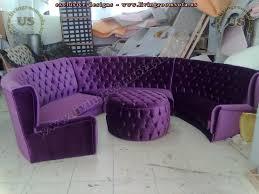 rounded chesterfield sofa design idea purple exclusive design ideas