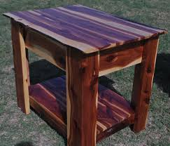 Storage End Table Red Cedar End Table With Hidden Gun Storage Two Oaks Farmstead