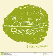 vector illustration energy efficient construction energy saving