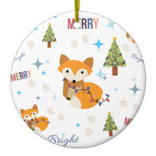 fox ornaments keepsake ornaments zazzle