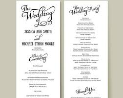 Diy Wedding Ceremony Program Wedding Reception Program Lareal Co