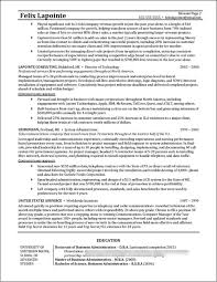 program manager resume example distinctive documents