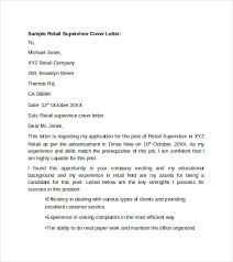 ideas collection retail supervisor cover letter examples with