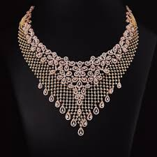 diamond necklace images Changuna floral diamond necklace jpg