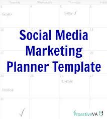 social media planner social media planner template