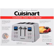 High End Toasters Cuisinart Countdown Classic 4 Slice Toaster Walmart Com