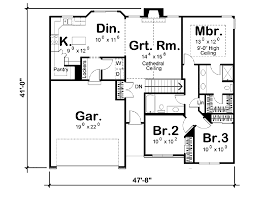 Traditional Floor Plan Traditional Style House Plan 3 Beds 2 00 Baths 1330 Sq Ft Plan
