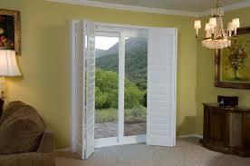 patio doors shutter doors danmer com bypass plantation shutters