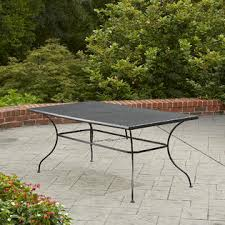Rectangle Patio Dining Table Sutton Rowe Rochester Wrought Iron Rectangle Patio Dining Table