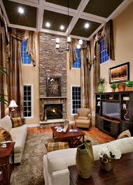 Drapery Panels On Outside Wall SZ Client Board Window - Two story family room decorating ideas