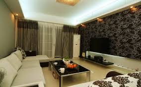 interior beauteous modern living room decoration using black