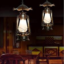 Indoor Hanging Lantern Light Fixture Dining Room Lantern Lighting Creative Kerosene Lantern
