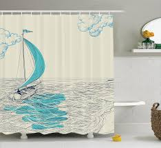 Tropical Beach Shower Curtains by Bathroom Chic Nautical Bathroom Shower Curtain Palms Beach