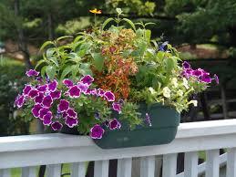 awesome black iron planter deck railing planter flower box large