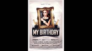 birthday party invitation flyer free photoshop template youtube